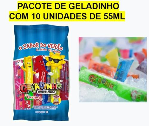 1 Pacote De Geladinho Americano Buschle - 10 Unids X 55ml