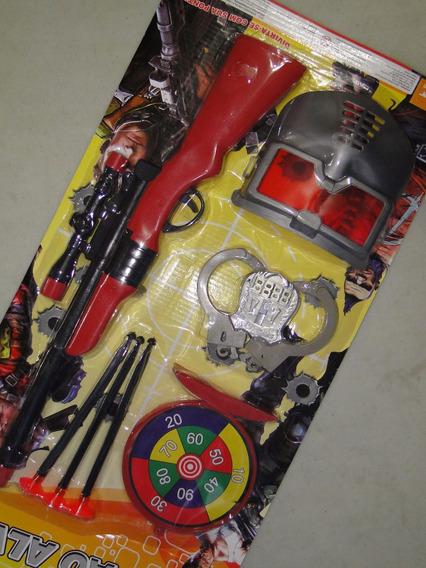 Rifle Fuzil Sniper Brinquedo 45cm Tiro Alvo Algema Mascara