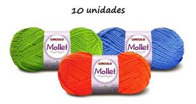 10 Novelos Lã Mollet 100g Crochê / Tricô - Círculo