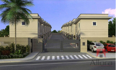 Sobrado Em Condomínio Fechado Com 2 Dormitórios À Venda, 69 M² Por R$ 249.000 - Loteamento Vale Das Flores - Atibaia/sp - So0466