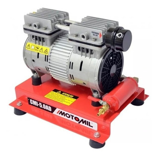 Compressor Ar Direto Isento De Óleo 1hp Cmi-5,0 220v Motomil