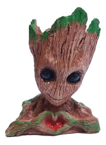Miniatura Estátua Vaso Porta Treco Baby Groot 14cm