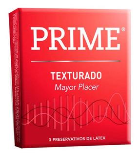 Prime Preservativos Texturado X 3 Unidades