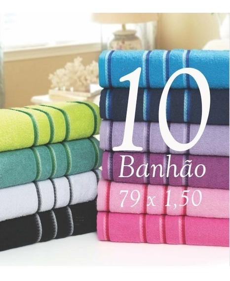 Kit 10 Toalhas De Banho Gigante 402gr 79 X 150 Jogo Atacado