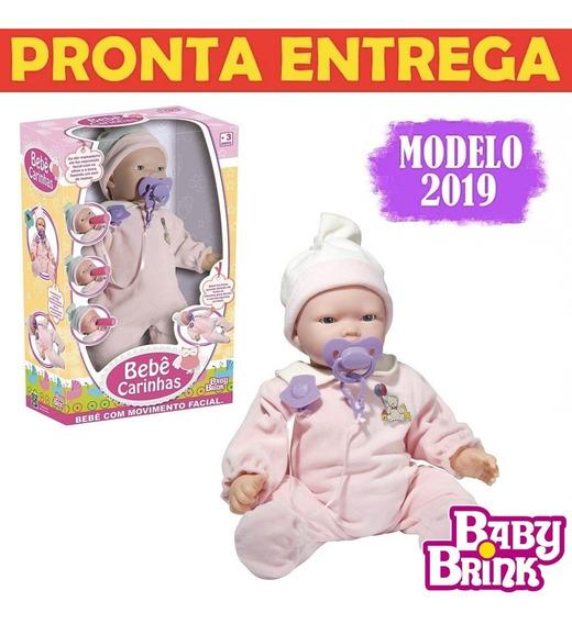 Boneca Interativa Bebê Carinhas Movimenta O Rosto Respira