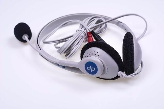 Fone De Ouvido Com Microfone Lan House Skype Jogos Headset