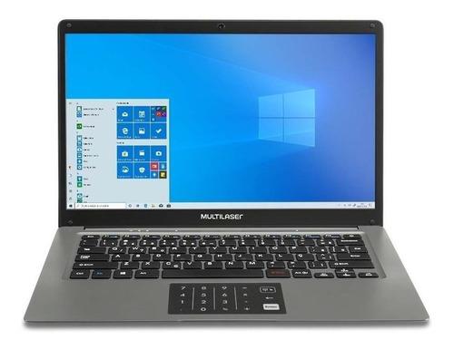 "Notebook Multilaser Legacy Cloud PC131 cinza 14"", Intel Atom X5-Z8350  2GB de RAM 32GB SSD 1366x768px Windows 10 Home"