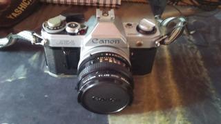 Câmera Analógica Fotográfica Antiga Canon Ae-1 Lente 50mm