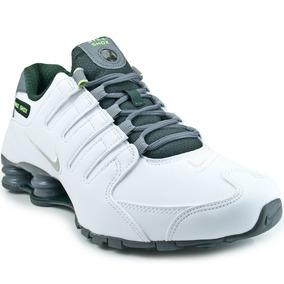 Tênis Nike Shox Se Branco C/ Verde Tam 40