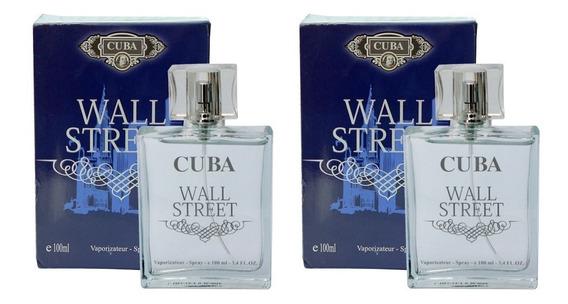 Kit 2 Perfumes Cuba Wall Street 2 X 100ml