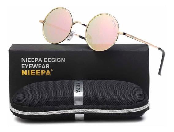 Lentes De Sol Gafas Redondas Estilo John Lennon Polarizadas