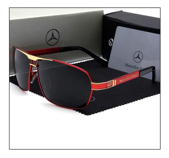 Óculos Mercedes Benz Golden Lentes Polarizadas Mb722 65reto