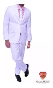 Terno Branco Slim Masculino Em 12x No Cartão Via Do Terno