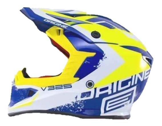 Casco Origine V325 Motocross Enduro Azul - Trapote Racing