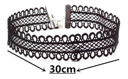 Collar Encaje Grueso Y Suave Ajustable Al Cuello