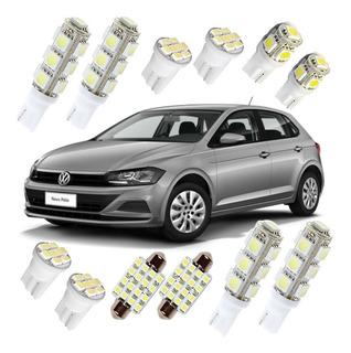 Kit Completo Lâmpada Led Volkswagen Novo Polo 17 2018 Branca