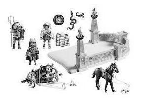 Bonecos Playmobil Brinquedo Educativo Egito Arena De Combate