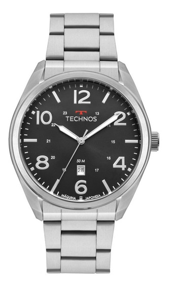 Relógio Technos Masculino Prateado Performance Militar 2115m