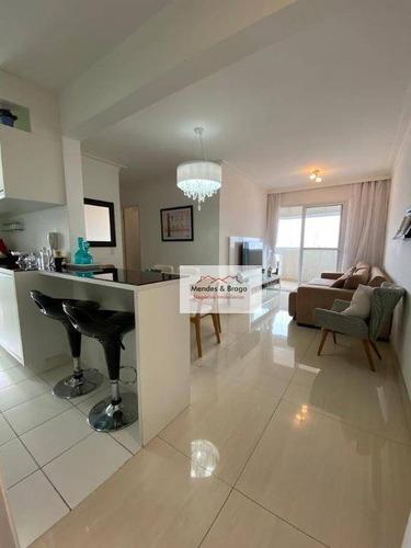 Imagem 1 de 30 de Apartamento À Venda, 82 M² Por R$ 550.000,00 - Vila Augusta - Guarulhos/sp - Ap0412