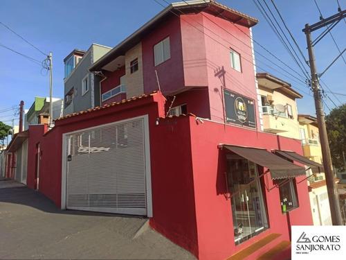 Sobrado Para A Venda No Bairro Vila Marina Em Santo André - Sp . - So00196 - 69379074