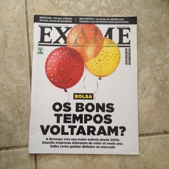 Revista Exame 1125 9/11/2016 Bolsa Os Bons Tempos Voltaram?