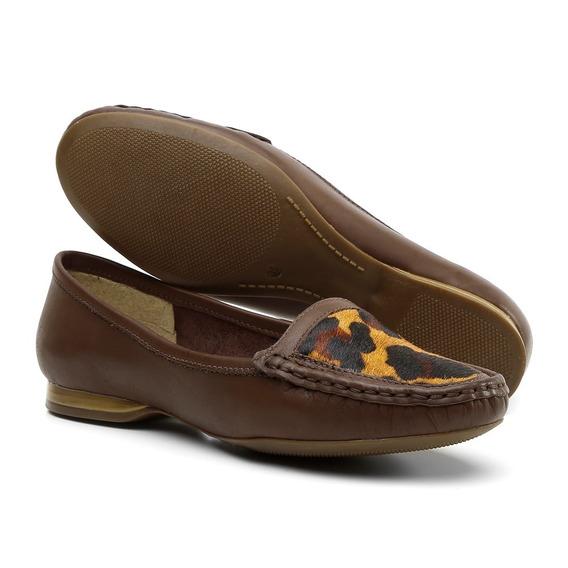 Sapato Social Feminino Luxo Casual Em Couro Legítimo 24016
