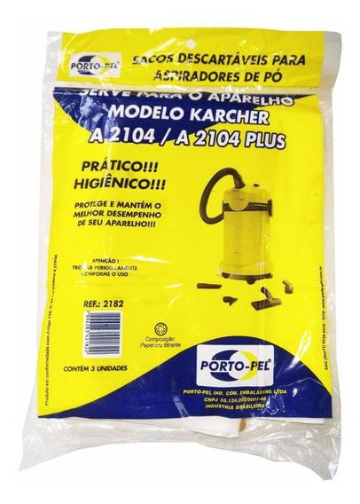Saco Desc P/aspirador De Pó Karcher A2104 E A2104 Plus C/3un