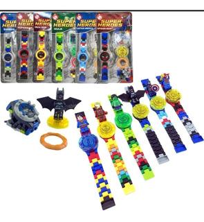 Reloj Lego Super Heroes Marvel Y Dc Comics Para Niños