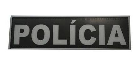 Emborrachado Alta Resistencia Velcro Polícia Militar Civil