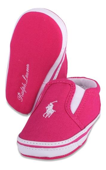 Tenis Polo Ralph Lauren Para Bebe Color Rosa Casual