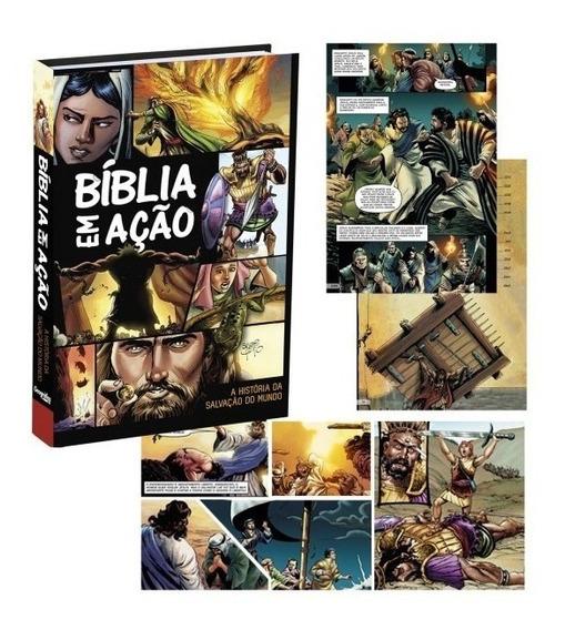 Bíblia Em Ação Quadrinhos Capa Dura