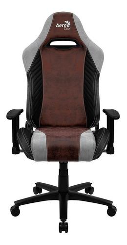 Imagen 1 de 5 de Silla de escritorio AeroCool Baron gamer ergonómica  burgundy red con tapizado de cuero sintético y piel sintética