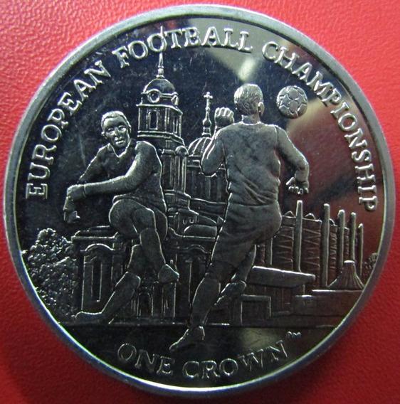 Isla De Man Moneda Campeonato Europeo De Futbol 1 Crown 2012