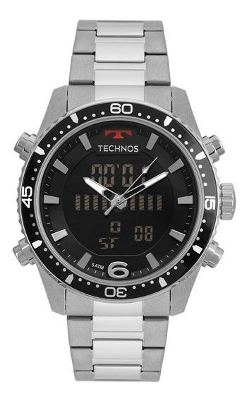 Relógio Masculino Technos Anadigi Bjk203aac/1p - Prata