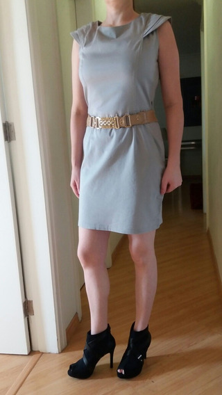 Vestido Barreds Tam P Cinza