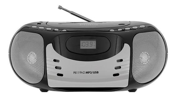 Som Portátil Philco Com Cd Player Rádio Fm Mp3 Usb 5w Rms