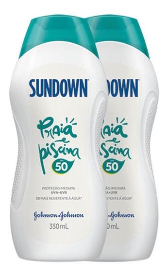 Kit 2 Protetor Solar Sundown Praia E Piscina Fps 50 350ml