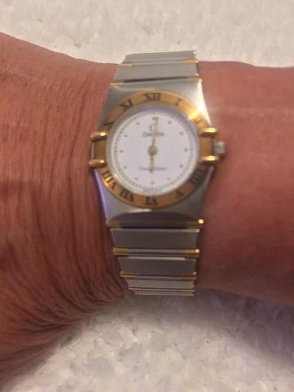 Relógio Aço E Ouro, Ômega Constelation -novo Vale 29000