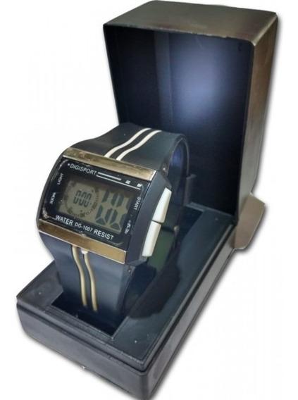 Relógio Digital Quadrado Com Luz Alarme Data C4