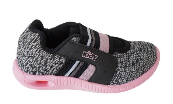Tenis Infantil Kidy 034-1041 - Mescla/rosa
