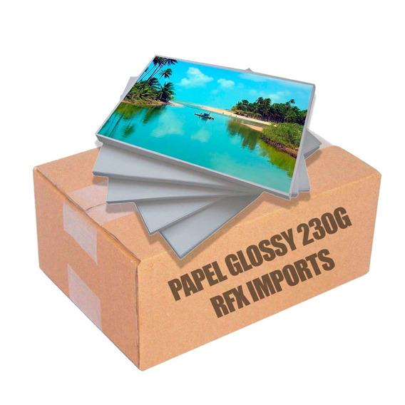 Papel Fotográfico A4 Glossy 230g 1000 Folhas Premium Brilho