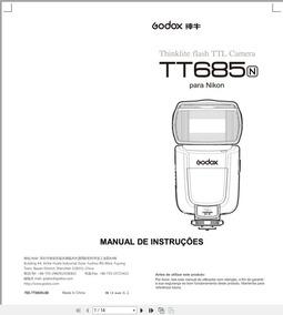 Manual Em Português Do Flash Godox Tt685 Para Nikon
