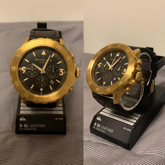 Relógio Quiksilver B-52 Chrono Leather - Novo