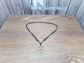 2 Colar Cordão Vintage Pentagrama Wicca Promoção De Junho