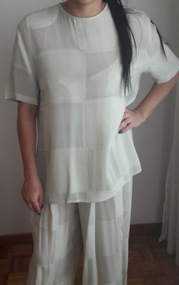 Hermoso Vestido Christian Dior Francia Palatzo Con Camisola