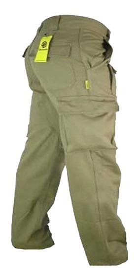 Pantalones Hombre De Trabajo Pamperocargo Reforzado Cazador