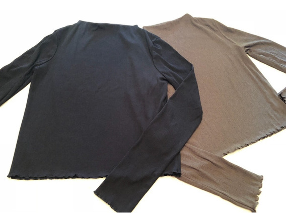 Lote 2 Remeras Zara Talle L Mujer Muy Buenas!