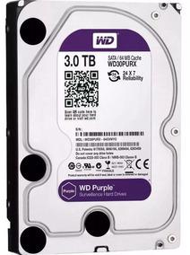 Hd 3tb - Wd Purple - Dvr Cftv Ws30purx - Novo