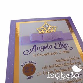 eed2e28a0 Invitaciones Princesas Coronas 3 Años Presentacion Xv Años