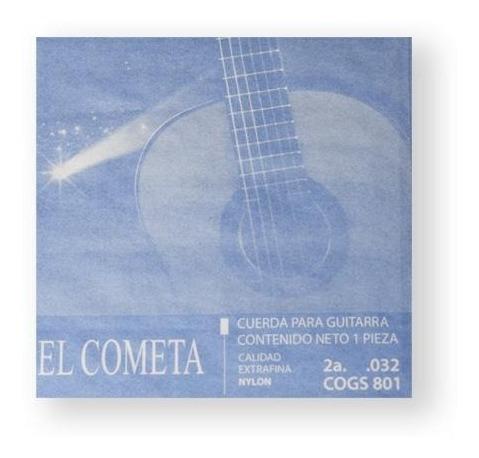 Imagen 1 de 1 de El Cometa Cuerda 801(12) Para Guitarra Clásica, 2a, Nylon